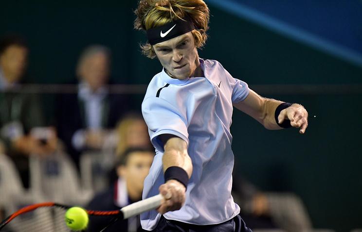 Теннисист Рублёв вышел вчетвертьфинал турнира ATP вДохе