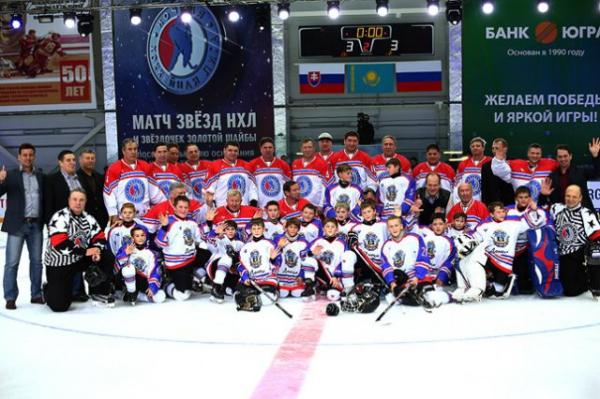 «Команда Татарстан» и«Звезды Ночной хоккейной лиги» сыграли вничью вгала-матче