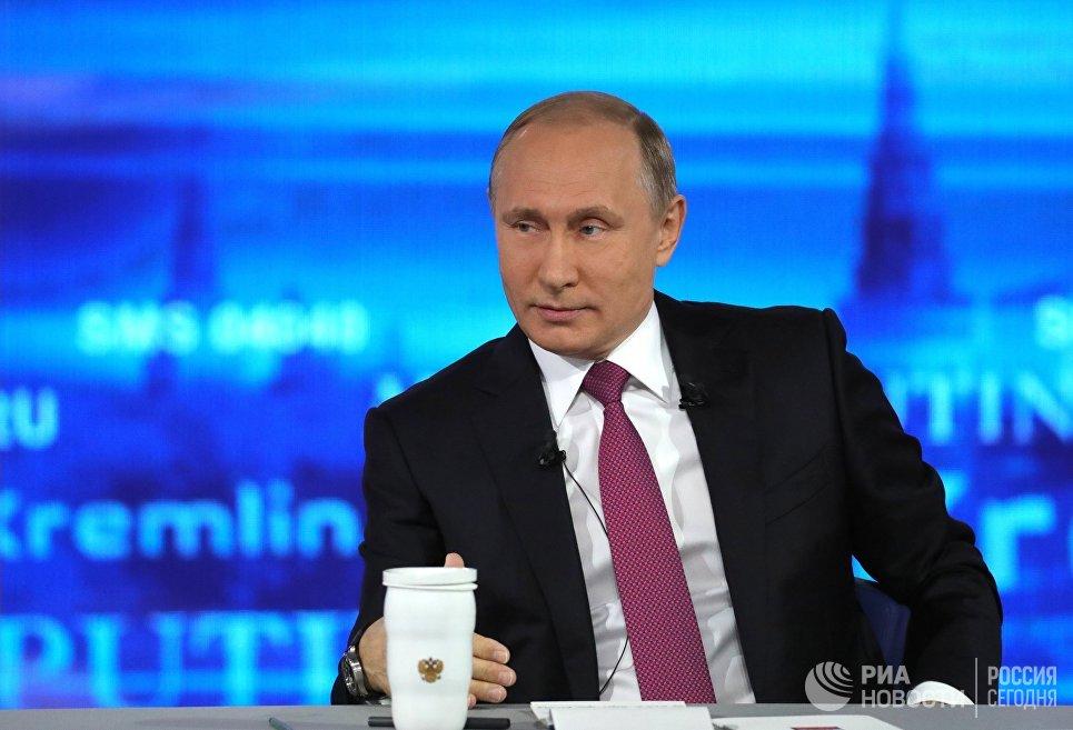 ВЦИОМ назвал самые запомнившиеся зрителям вопросы «прямой линии» Владимира Путина
