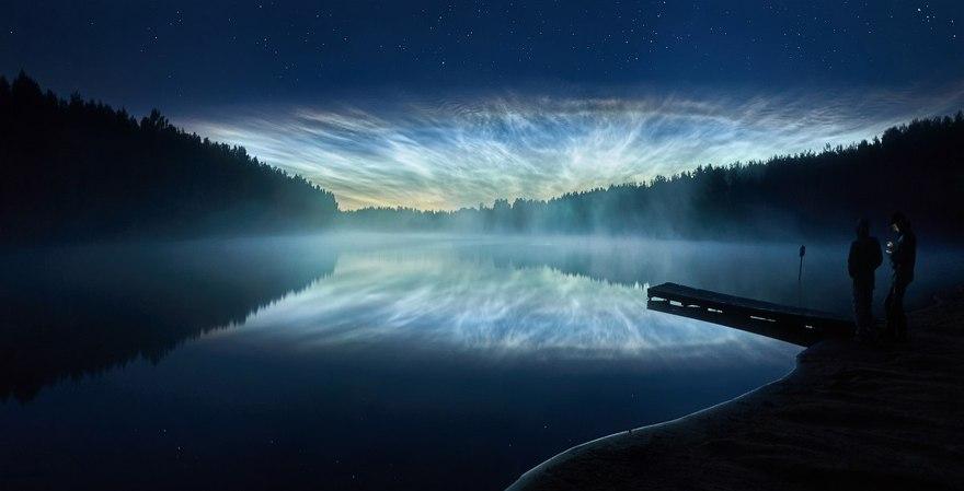 Петербуржцы смогут наблюдать серебристые облака весь июль— Санкт-Петербург