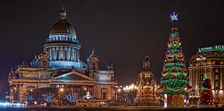 Новогодний санкт петербург фото